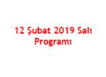 12.02.2019 Programı